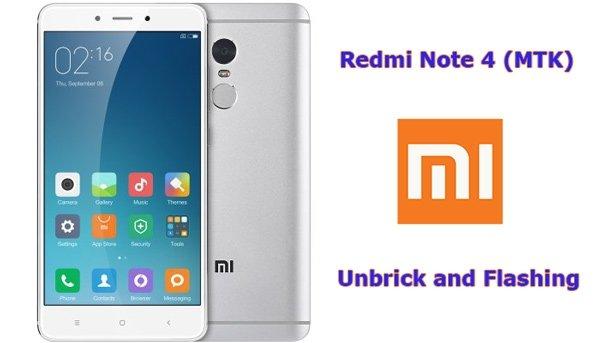 unbrick Redmi Note 4 SP Flash tools