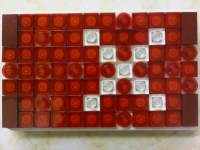 Brickcase smallworks Iphone case Lego mosaic all red