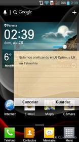 LG Optimus L9 - Qslide app Notas