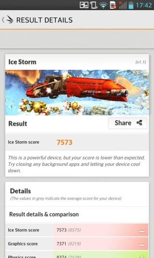 LG Optimus G: Bechmark 3DMark