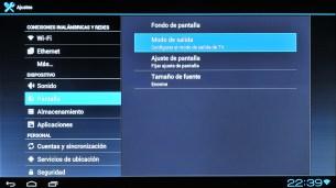 Configuración de la pantalla