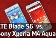 ZTE Blade S6 vs. Sony Xperia M4 Aqua