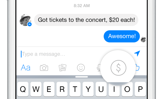 Facebook Messenger introduce PayPal