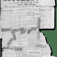 1887ko 'Escualduna' egunkaria. 129 urtetan ez da asko aldatu, ezta? (Horrelako gehiago hemeroketa.eus webgunean).
