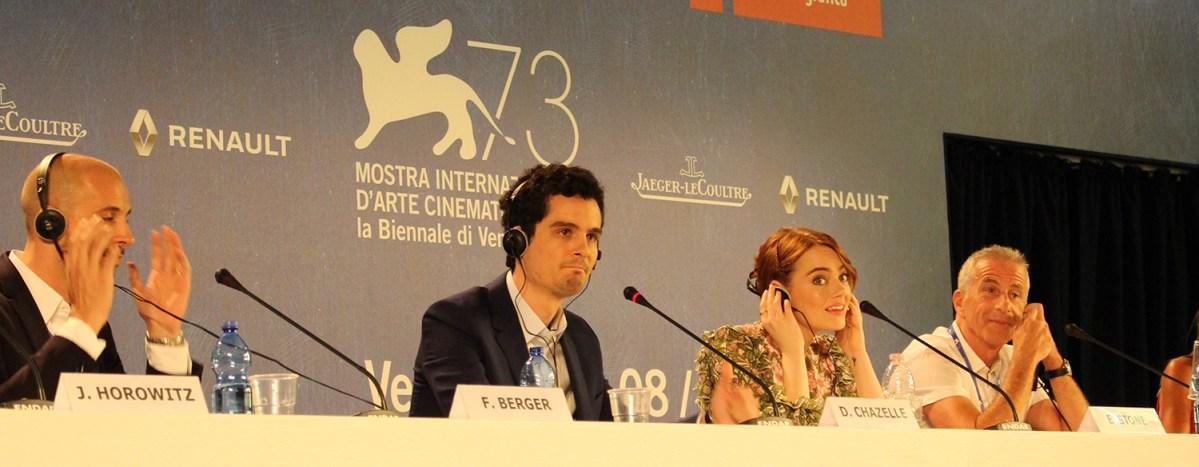 La La Land: Conferenza stampa con Damien Chazelle ed Emma Stone a Venezia 73