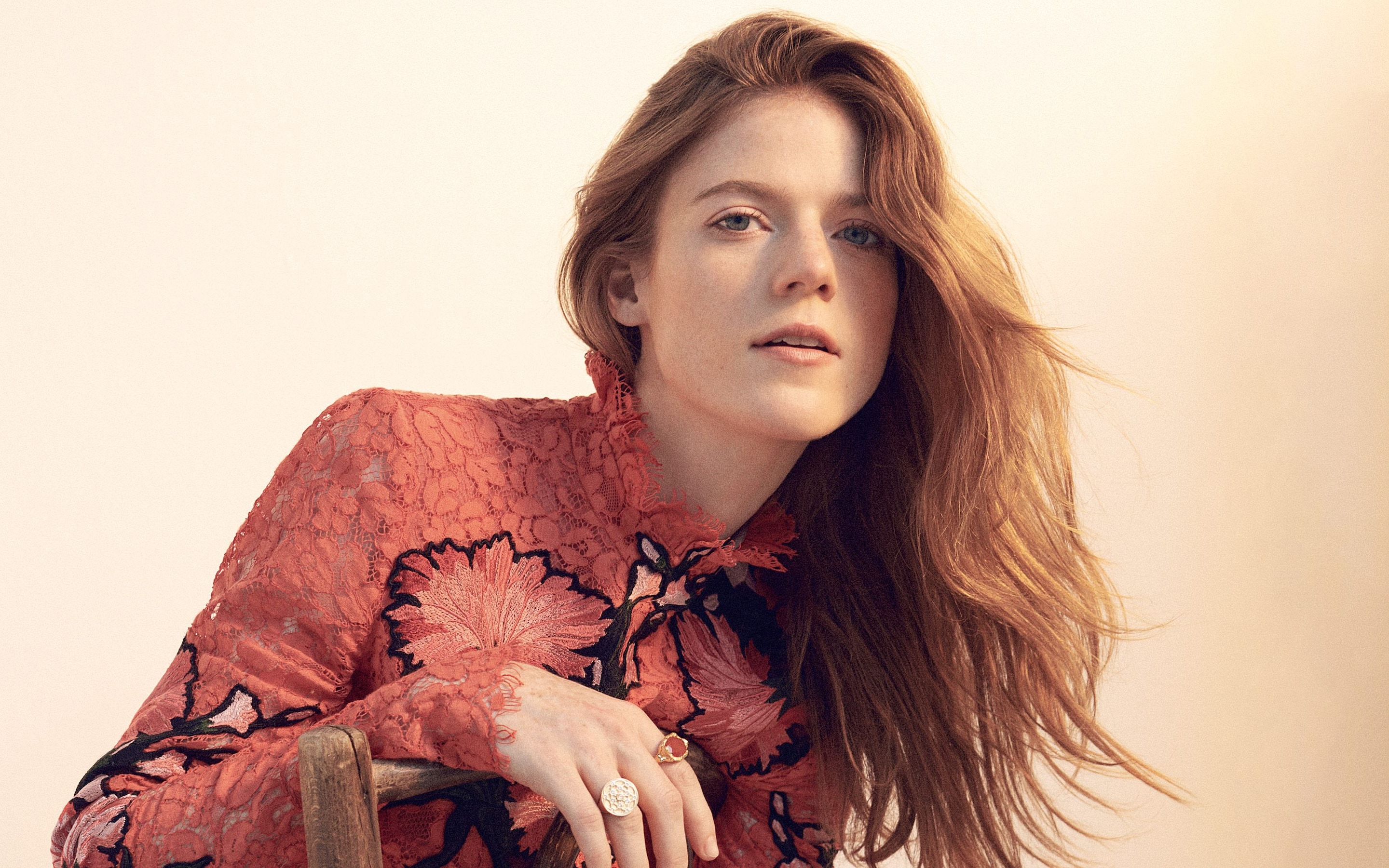 Rose Leslie on finding love on Game of Thrones and making it in     Hair  Liz Taw at Stella CreativeArtists using Bumble and bumble  Make up