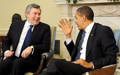 Barack Obama thanks Gordon Brown for 'very productive' visit to Washington