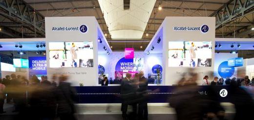Stand de Alcatel-Lucent en el MWC 2014 - Imagen: Alcatel-Lucent