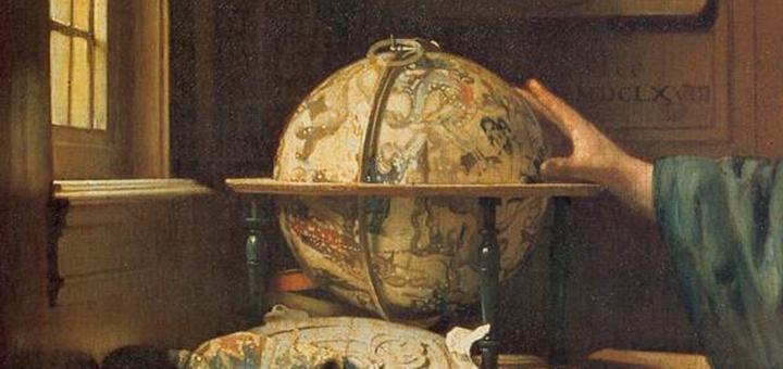 """Fragmento de """"El Astrónomo"""", de Jan Vermeer"""