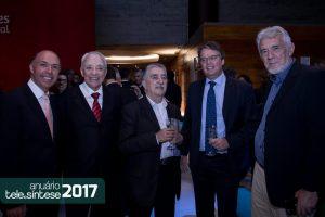 Sebastião Sahão Junior, presidente do CPqD, com Hélio Graciosa, André Borges e Marcius Vitale