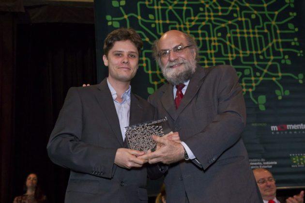 Tiago Cruz, gerente de Produtos para AL da UNIFY e Demi  Getschko, diretor do Nic.BR