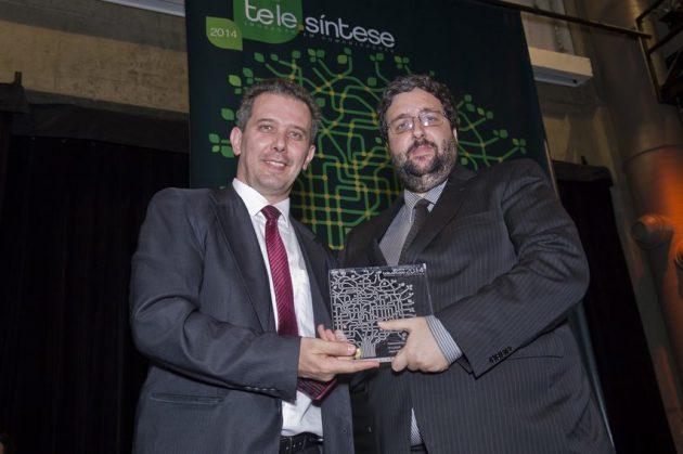 Maximiliano Martinhão, secretário de Telecomunicações do MiniCom e Michel Cusnir, diretor de  Negócios da Asga Sistemas