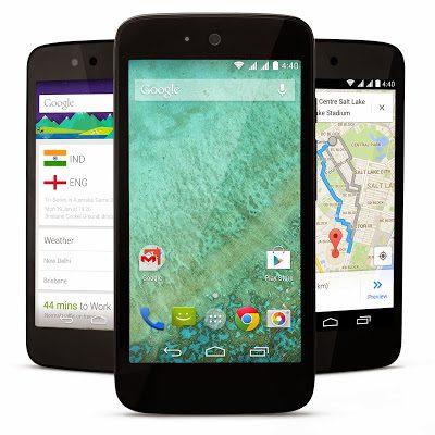 """Modelo padrão dara aparelhos Android One: tela de 4,5"""" e câmera de 5 MP. (Foto: divulgação)"""
