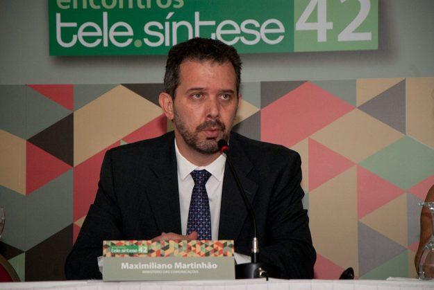 Maximiliano Martinhão, Secretário de Telecomunicações do Ministério das Comunicações, durante o 42o Encontro Tele.Síntese (Foto: Felipe Canova)