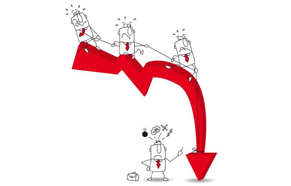 seta-negativo-executivo-caindo-queda