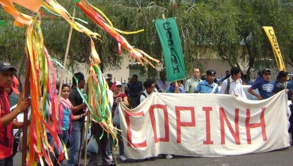 COPINH represents Lenca indigenous people in resistance in the western provinces of Honduras, the traditional territories of the Lenca.