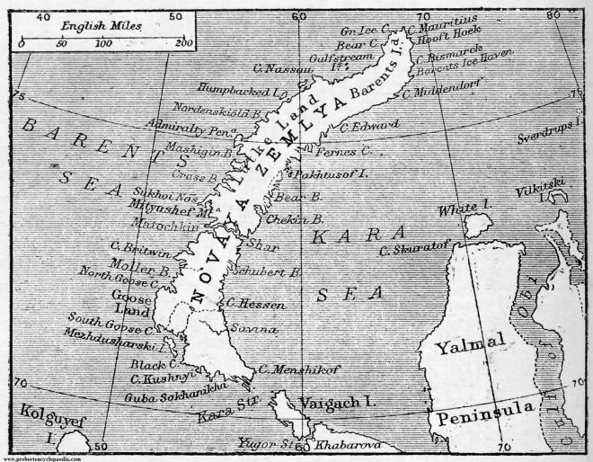 Map of Novaya Zemlya 1906, tratto da www.probertencyclopaedia.com