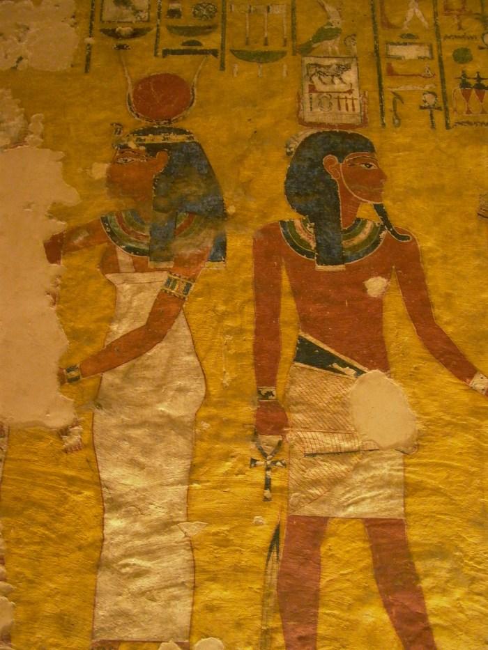 Valle dei Re, affreschi all'interno di una tomba
