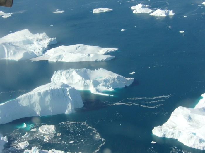 Vista aerea sulla Groenlandia