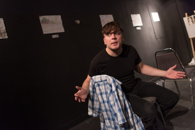 Rob Salerno in First Day Back. Photo by Dahlia Katz.