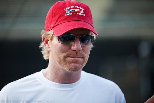 U. S. Davis Cup Captain Jim Courier
