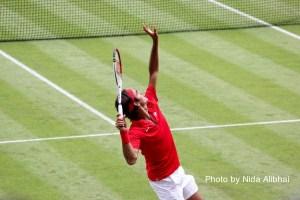 Roger Federer at 2012 Olympics by Nida Alibhai