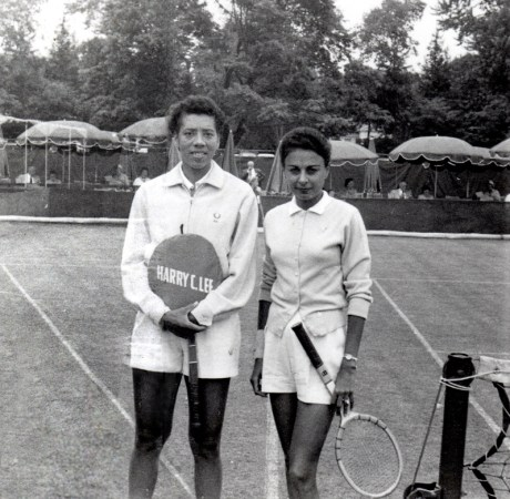 Photo of Althea Gibson and Millicent Miller courtesy of Rex Miller