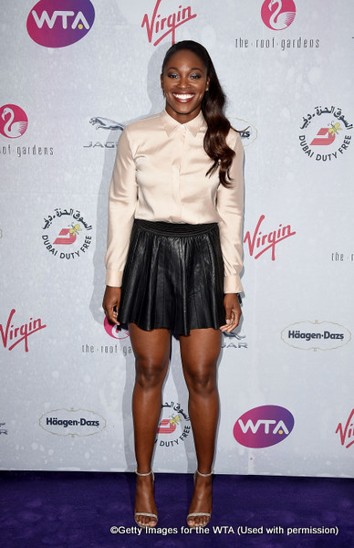 LONDON, ENGLAND - JUNE 23:  Sloane Stephens attends the annual WTA Pre-Wimbledon Party presented by Dubai Duty Free at the Kensington Roof Gardens on June 23, 2016 in London, England.  (Photo by Stuart C. Wilson/Getty Images for WTA Tour)
