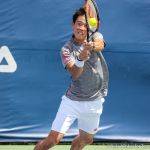 Nishikori bh on strings