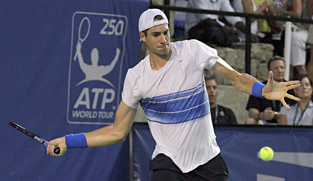 Isner is picking up steam. Brandon Fresner/ATC