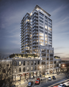 An image of the Salient Group's Trapp & Holbrook redevelopment in downtown New Westminster. Photo provided by the Salient Group.