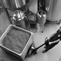 Photo by Mario Bartel About 250-300 kilograms of malt is used for every 1,700 litres of beer brewed at Steel & Oak.