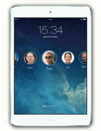 iOS 7 User Switching on iPad: Unlocked
