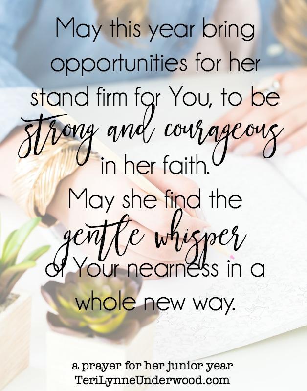 Prayer for my girl as she begins her junior year of high school