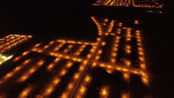 Iluminação noturna do Top Park em Luís Eduardo Magalhães