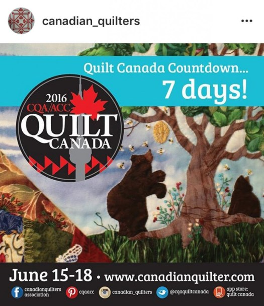 7 days to Quilt Canada
