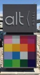 ALT Hotel sign
