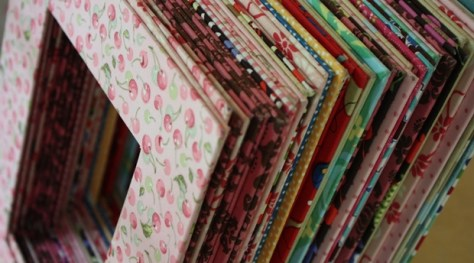 Fabric Covered Mat Photo