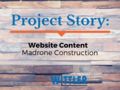 Project Story: Madrone Construction Website Content