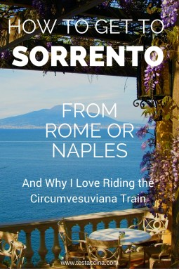 A quick and cheap guide on getting to Sorrento, one of the Amalfi Coast's loveliest resorts, from Rome or Naples.