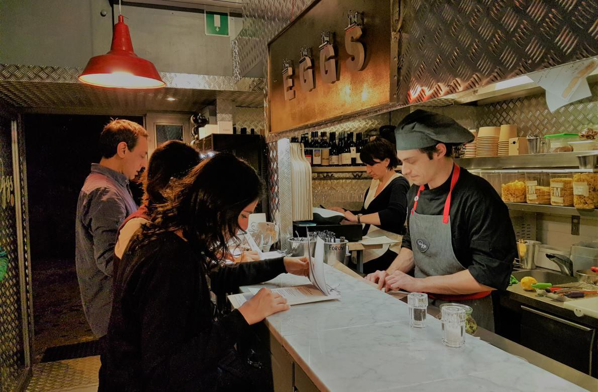 Review of Eggs Roma: new gourmet restaurant in Trastevere, Rome
