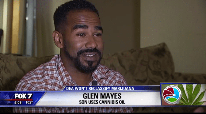 "Denying patient access to cannabis is a ""crime against humanity,"" says Glen Mayes, medical refugee from Texas."