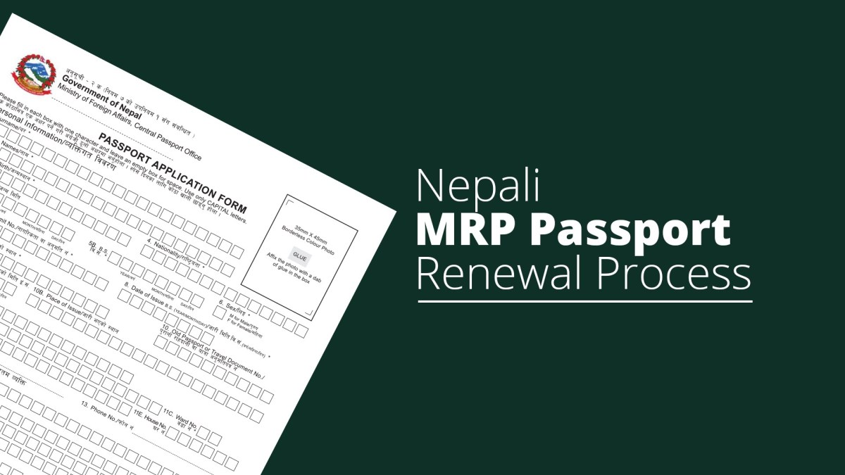 How to renew Nepali MRP passport in USA