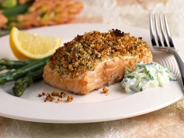 Roasted Pecan Salmon