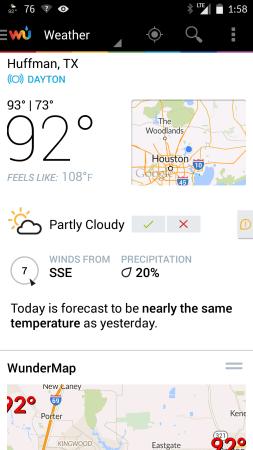 Huffman weather