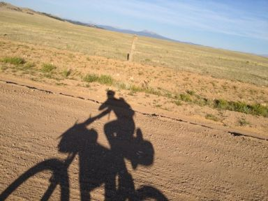 One morning I realized I wasn't cycling alone