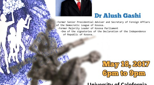 Dr. Alush Gashi who played a Major role in the independence of Kosovo to Deliver Mullivaikal Memorial Lecture: TGTE