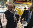 While Sri Lankan President was addressing the UN – a mock Prosecution of Sri Lanka was held outside for War Crimes !