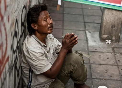 Beggar in Thailand