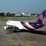 Thai Airways Airbus A330-300 moved from runway to hangar